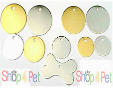 Pet ID Tag From 99p, No-Nonsense BRASS & NICKEL Tags with or without ENGRAVING