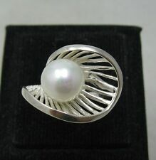STYLISH STERLING SILVER RING SOLID 925 PEARL SIZE 4 - 11 NEW