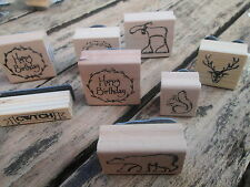 East of India rubber Stamp Christmas Wedding Favours Card Craft Gift Wrapping