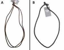 ONE BRAND NEW ABERCROMBIE & FITCH BRAIDED LEATHER STRAND NECKLACE ONE SIZE