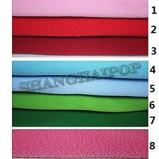 Polar Fleece Fabric Anti-pill Plain 17 Multi Colored Pink/Gray/Blue/yellow/Khaki