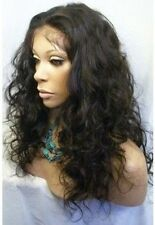 SILK TOP 100% INDIAN HUMAN HAIR FULL/FRONT LACE WIG MALAYSIA CURLY WIGS CUSTOM