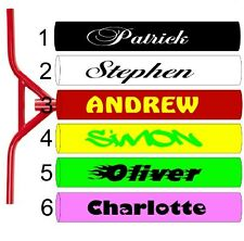 2 X SCOOTER FRAME,BMX BIKE PERSONALISED NAME DECALS,STICKERS,SKATEBOARD