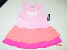 NWT Toddler Girls Faded Glory Summer Dress Butterfly Cute