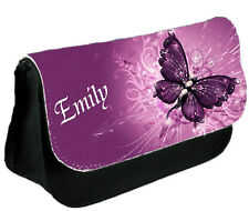 Personalised Pretty Butterfly Make-up / Clutch Bag / Pencil Case - Gift for Her