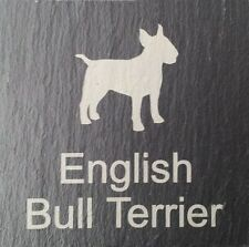 Beware Of The English Bull Terrier Slate Dog Plaque Sign Plaque 11 Designs