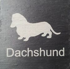 Beware Of The Dachshund Natural Slate Dog Plaque Sign  11 Designs