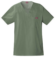 Scrubs Dickies Youtility Mens Top 81722 Olive FREE SHIPPING!