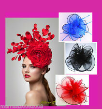 Colorful Elegance Fascinators Feather Hat with Clip for Racing Wedding
