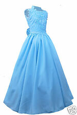 Girl National Pageant Wedding Party Formal Dress AQUA BLUE sz:3,4,5,6,7,8,10-14