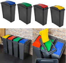 NEW PLASTIC RECYCLING BIN KITCHEN GARDEN WASTE RUBBISH RECYCLE 25 LITRE HOME