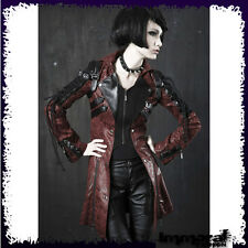 PUNK RAVE STEAM PUNK ARMY JACKET - PUNK/GOTHIC/RED/TRENCH/COAT - UNISEX