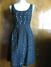 New Tahari women's crocheted black fabric made 100%cotton dress Sz 8,10,12 $128