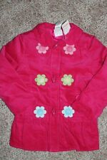 Gymboree SMART AND SWEET Pink Blue FLOWER Toggle Coat JACKET XS S or M you pick