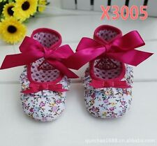 Baby Kids Girls Toddlers flower Walking Princess First shoes Xmas shower gift