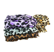 Large Animal Leopard Print Large Crinkle Shawl Stole Scarf  Wrap 105cm x 170cm