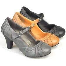 LADIES HIGH HEELS COURT SHOES NEW WOMENS FANCY OFFICE SMART MARY JANE SHOES SIZE
