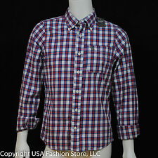 Abercrombie & Fitch Men's Shirt Hunters Pass Red Plaid NWT