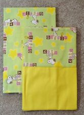 CRIB/TODDLER SHEET 2PC SET/ COTTON AND FLANNEL - SNOOPY AND WOODSTOCK PRINTS