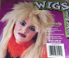 PUNK ROCK STAR WIG Rocker Wigs Blonde Black Brown Cavewoman Wig Zombie Witch Dr.