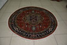 Indian Hand Knotted Oriental Heriz Serapi Rug Carpet Persian Teppich Hali RC EHS