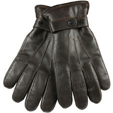 Men's Nappa Leather Super Warm long fleece lining+ Thinsulate quilted Gloves