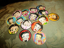 Pre Cut BETTY BOOP One Inch Bottle Cap Images!