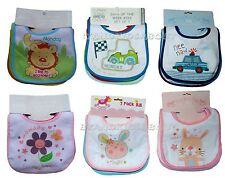 "pack of 7 BABY BIBS ""DAYS OF THE WEEK""  with Waterproof Back"