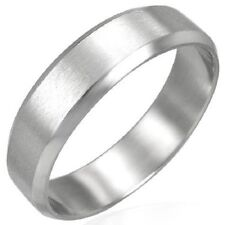 Personalized Stainless Steel 2-Tone Beveled Edge Ring - Free Engraving - RCH025
