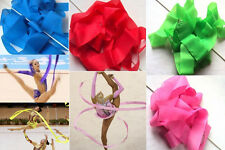New 4M Rhythmic Gymnastics Dance Ribbon Gym Streamer Baton Twirling Rod 7 Colors