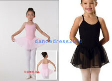 NWT Fairy Girls Party Leotard Ballet Costume Tutu Dance Skirt Dress 5-8Y 2Colors