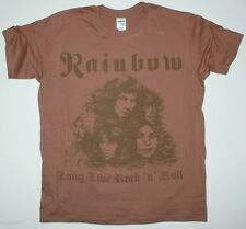 RAINBOW LONG LIVE ROCK'N'ROLL'78 RITCHIE BLACKMORE DIO NEW BROWN T-SHIRT