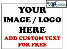 * CUSTOM IRON ON T SHIRT TRANSFER * ANY IMAGE OR LOGO & CUSTOM TEXT   * DARK *