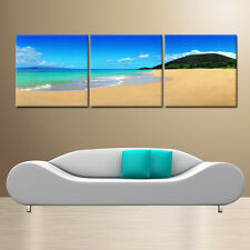 BEACH ready to hang wall art print mounted on fiberboards/better than Canvas art