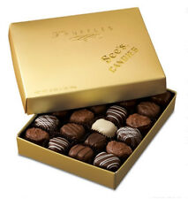See's Candies Truffles Rich Chocolate Gold Gift Box Delicious Truffle