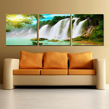 WATERFALLS modern wall art print mounted on fiberboards/better than canvas print