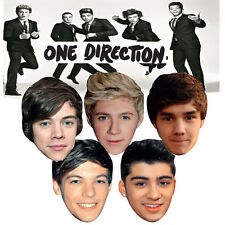 One Direction 5 Boys Celebrity Party Face Masks Hen & Stag Birthday Fancy Dress