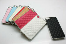 Deluxe Luxury Leather Hard Chrome Skin Case Back Cover for Apple iPhone 5