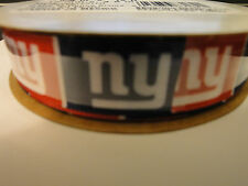 "New York GIANTS Offray Decorative Craft Ribbon 7/8""  or 5/8""  x 12' 4 yd"