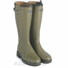 Le Chameau Chasseur Leather Lined Rubber Boots Wellies Wellingtons