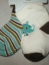 Gymboree NWT Baby Boy Hippo Cutie 2 Pack Sock