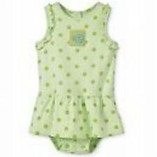 *NEW* Carters Baby Girl's One Piece Cotton Romper Size 3 6 9  Month - Green