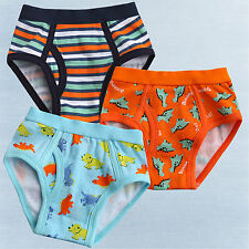 "NEW Vaenait Baby Boy 3 pack of Underwear Briefs Pantie Set "" Dinofire Set """