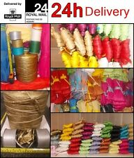 Raffia Paper Ribbon Christmas Colors decorating Gifts flowers crafts, 2m -100m