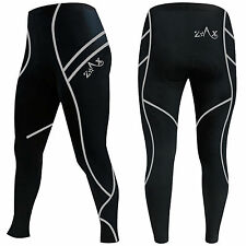 Mens Winter Cycling Tights Padded Cycle Thermal Trousers Leggings