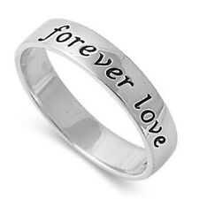 Personalized 5mm Sterling Silver Forever Love Promise Ring - Free Engraving