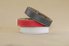 Bracciale in VERA PELLE Cuoio Unisex leather bracelet idea regalo MADE IN ITALY