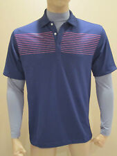 NWT Men's Nike Golf Dri-Fit  Striped Layered Long Sleeve Polo 416594 440 S M L