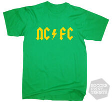 Norwich City Funny Rock ACDC NCFC style Football T Shirt All Sizes + gift box