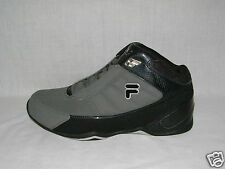 New Men's FILA Change the Game Pewter/Black/Silver Basketball Shoes, Size 11.5